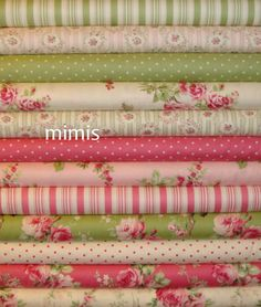 12 YARD BUNDLE / Barefoot Roses by Tanya Whelan / by mimis on Etsy, $115.00