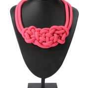 Roped In Necklace - Pink  available now on www.my-boutique.com.au