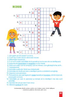 Dezvoltare Personala Semestrul I School Staff, After School, Math For Kids, Activities For Kids, Romanian Language, English Activities, Math Humor, Good Mental Health, Sunday School Lessons