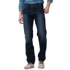 Le jean Ronan possède une coupe droite, une jambe longue et une taille normale. De couleur bleu-noir foncé. Délavé fortement sur les cuisses. Plis sur les hanches. Drapeau Tommy Hilfiger sur la poche avant. Modèle à cinq poches. Étiquette griffée Hilfiger Denim sur la taille. Denim léger. Ouverture de jambe : 39,37 cm Hauteur de face : 26,67 cm Notre mannequin mesure 1m86 et porte un jean Hilfiger Denim de taille W32/L34.