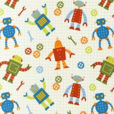 robot fabric, maybe for a pillow