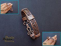 Free Shipping,Copper cuff men bracelet,Copper Wire Weaving Men Bracelet,Gift ideea for him,Men copper bangle cuff bracelet,Jewelry for Mens