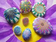 Rock Art, Bunt, Easter Eggs, Stones, Creative, Base Coat, Stone Art