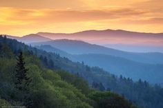 The Oconaluftee Valley in Great Smoky Mountains National Park, North Carolina