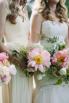 Beautiful bouquets: http://www.stylemepretty.com/2015/04/17/elegant-and-contemporary-summer-farm-wedding/   Photography: Brooke Courtney Photography - www.brookecourtney.com