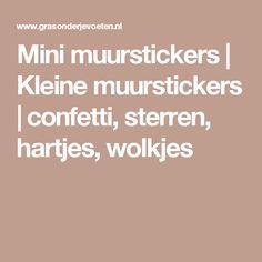 Mini muurstickers | Kleine muurstickers | confetti, sterren, hartjes, wolkjes