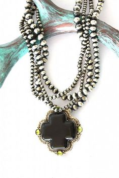 David Troutman - Silver Creations - Native American jewelry, turquoise jewelry, cowgirl jewelry, cuffs, rings http://www.cowgirlkim.com/david-troutman-obsidian-navajo-pearl-necklace.html