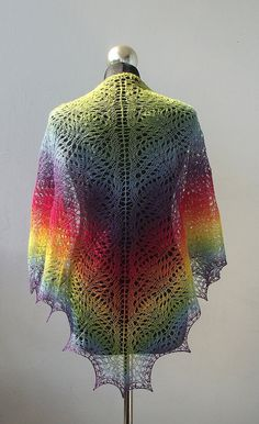 rainbow lace shawl! But when would I ever wear it?