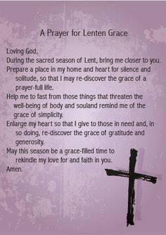 Lenten prayer.
