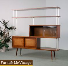 1950s James Philips Room Divider Hutch
