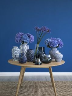 Shades of Blue! Great vase wagon in different shades of blue and materials wi . Pantone Colour Palettes, Pantone Color, Color Secundario, Pantone 2020, Benjamin Moore Colors, Blue Colour Palette, Summer Wedding Colors, Blue Home Decor, Blue Springs