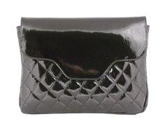 Kinsey 20683 Black Patent Leather Shoulder Bag
