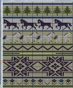 Ravelry: Icelandic Horses Xmas Stocking pattern by Shannon Griswold Knitting Charts, Knitting Stitches, Knitting Designs, Knitting Projects, Knitting Patterns, Knitting Ideas, Knitted Christmas Stockings, Xmas Stockings, Christmas Knitting
