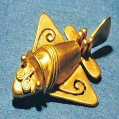 Archaeologist have found sophisticated pre-Incan sculptures made in the  shapes very similar to that of airplanes, jets, helicopters and space shuttles.    These small gold figurines are approximately two inches in length and  estimated to date between 500 and 800 BCE.