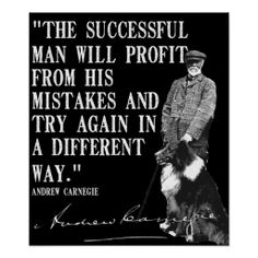 The successful man will profit... poster