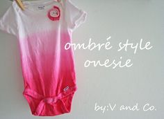diy ombre onesie or t shirt Diy Ombre, Diy Baby Gifts, Baby Crafts, Tye Dye, Sewing For Kids, Baby Sewing, Sew Baby, Onesie Diy, Diy Tie Dye Onesies