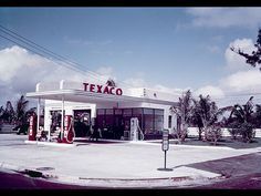 Walter Dorwin Teague, the same guy who designed the Kodak Brownie, designed the style we still use for gas stations via 1930's Texaco stations.