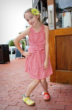 dress, hair accessory, and mismatched shoes from www.gigisfabkids.com