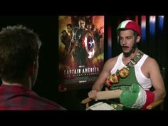 CAPTAIN AMERICA - Winter Soldier  vs CAPTAIN ITALY (funny Chris Evans + Daniele Rizzo)
