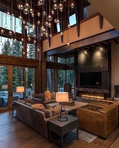 Rustic Modern Home Design Lake Tahoe Getaway Features A Modern Sch . Rustic Modern Home Design Lake Tahoe Getaway Features A Modern Sch . - Diy Projekt, to choose LED lights for at home? Home Interior Design, Interior Architecture, Room Interior, Interior Ideas, Dream House Interior, Beautiful Houses Interior, Amazing Architecture, Luxury Interior, Interior Paint