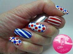Red White and Blue Nails - Ma Nails