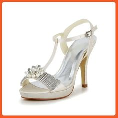Jia Jia Wedding 37073 Prom Party Dance Bridal Shoes Wommen Pumps Sekt, 10.5 B(M) US - Pumps for women (*Amazon Partner-Link)