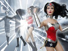 Wonder Woman 52 (2013) left : Tyler Ultra Basic Raven (2008) body parts : Nu Mood hands-c (2012)