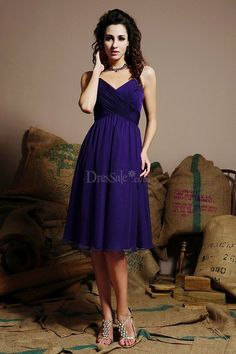 Bewitching Regency A-line Bridesmaid Dress with Pleats