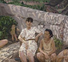 Liu Xiaodong, relaxing in spring on ArtStack #liu-xiaodong #art