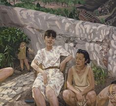 Liu Xiaodong, relaxing in spring on ArtStack #liu-xiaodong #art