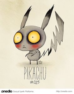 Pokemon characters by tim burton