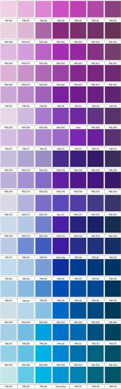 PANTONE violet blue coloe gradation