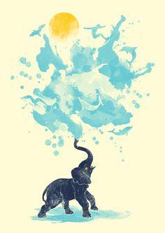"""""""Summer Splash"""" Art Print by Steven Toang on Society6."""