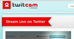 Transmite en vivo con Twitter y Twitcam
