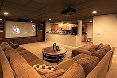 Basement media room Wow Zillow Digs - Home Design Ideas, Photos, and Plans