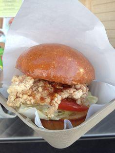 Saruno - chicken teriyaki burger Teriyaki Burgers, Best Food Trucks, Teriyaki Chicken