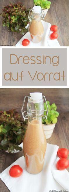 Läßt sich gut aufbewahren,ist lecker und variabel in den Zutaten. C&B with Andrea - Dressing auf Vorrat - Salat - www.candbwithandrea.com - Collage
