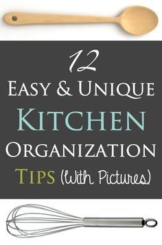 Some really unique, easy, and affordable kitchen organization tips (with pictures)! Listotic.com