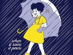 "Miyazaki Salt: a take-off of the iconic Morton Salt image...""When it rains, it pours"""