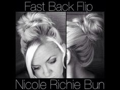 Fast Back Flip Bun---She has lots of tutorials for different hairstyles. Pin and read later