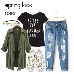 spring look idea by bius1522 on Polyvore featuring MANGO, Sophia Webster and Impulse