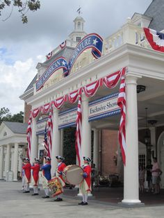 Fife and Drum Corps at The American Adventure Pavilion at Epcot, Walt Disney World, Florida