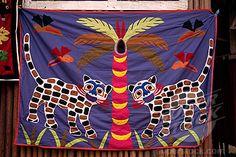 Applique work, Ganvie stilt village, Benin, West Africa, Africa