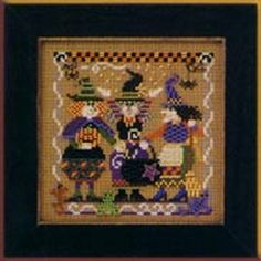 Mill Hill Autumn Series - Cookin Up Magic Halloween beaded counted cross stitch kit Cross Stitch Owl, Cross Stitch Kits, Counted Cross Stitch Patterns, Cross Stitching, Cross Stitch Embroidery, Lilo And Stitch Costume, Halloween Beads, Halloween Cross Stitches, Beaded Cross