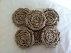 Large Burlap Flower Cookies in Natural Tan by redesignaccessories, $20.00