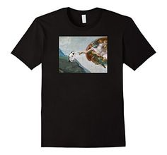 The Creation of Hedgehog Graphic Tee Shirt Men's, Women's, and Kids sizes available. This Hedgie approved design makes for a fun T-Shirt and is sure to be a Papal pleaser! Makes a great gift for any Hedgehog lover. Original artwork by Princess Penelope Pricklepants (no relation to figurative writing answer key) with help from her humans. Printed in USA. Michelangelo. Art. Parody. Funny T-shirt.
