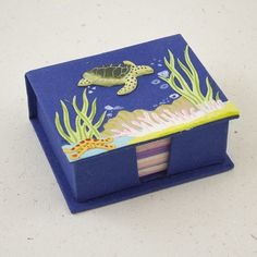 turtle note box from Mr. Ellie Pooh - a win/win for elephants and farmers in Sri Lanka