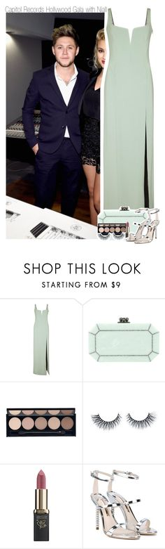 """Capitol Records Hollywood Gala with Niall"" by hazzdimples ❤ liked on Polyvore featuring Galvan, Edie Parker, Witchery, L'Oréal Paris, Sophia Webster, OneDirection and NiallHoran"
