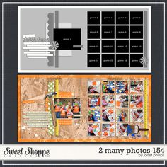 Sweet Shoppe Designs::2 Page Layout Templates::2 Many Photos 154 by Janet Phillips