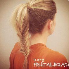 Love this fluffy fishtail ponytail!